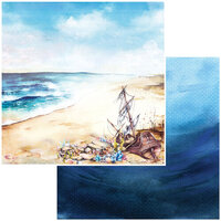 49 and Market - Shipwreck Collection - 12 x 12 Double Sided Paper - Beached