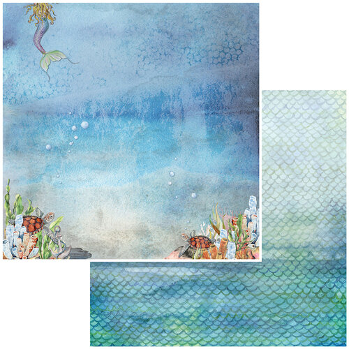 49 and Market - Shipwreck Collection - 12 x 12 Double Sided Paper - Atlantis