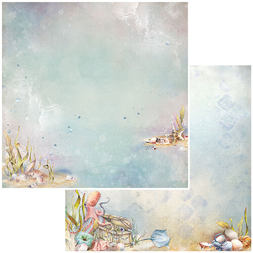 49 and Market - Shipwreck Collection - 12 x 12 Double Sided Paper - Underwater Treasures