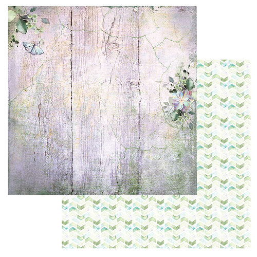 49 and Market - Serendipitous Collection - 12 x 12 Double Sided Paper - Misty Breeze