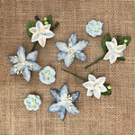 49 and Market - Handmade Flowers - Stargazers - Sky Blue