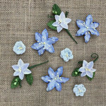 49 and Market - Handmade Flowers - Stargazers - Periwinkle