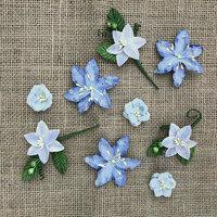 49 and Market - Handmade Flowers - Stargazers - Periwinkle