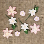49 and Market - Handmade Flowers - Stargazers - Petal Pink