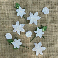 49 and Market - Handmade Flowers - Stargazers - Simply White