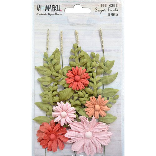 49 and Market - Flower Embellishments - Sugar Petals - Tutti Frutti
