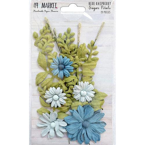 49 and Market - Flower Embellishments - Sugar Petals - Blue Raspberry
