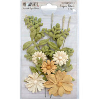 49 and Market - Flower Embellishments - Sugar Petals - Butterscotch