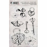 49 and Market - Clear Photopolymer Stamps - Lock and Key