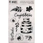 49 and Market - Clear Acrylic Stamps - Wedding Wishes