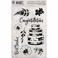 49 and Market - Clear Photopolymer Stamps - Wedding Wishes