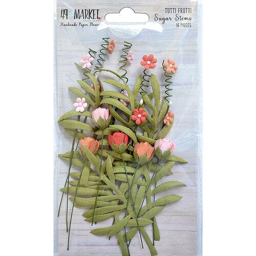 49 and Market - Flower Embellishments - Sugar Stems - Tutti Frutti