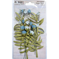 49 and Market - Flower Embellishments - Sugar Stems - Blue Raspberry