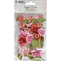 49 and Market - Flower Embellishments - Sugar Posies - Tutti Frutti