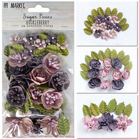 49 and Market - Flower Embellishments - Sugar Posies - Huckleberry