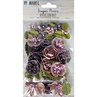 49 and Market - Flower Embellishments - Sugar Posies - Huckleberry