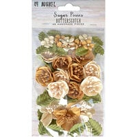 49 and Market - Flower Embellishments - Sugar Posies - Butterscotch