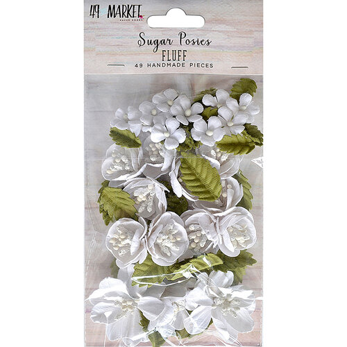 49 and Market - Flower Embellishments - Sugar Posies - Fluff