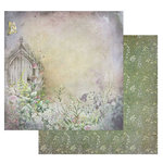 49 and Market - Tattered Garden Collection - 12 x 12 Double Sided Paper - Tattered Path
