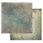 49 and Market - Tattered Garden Collection - 12 x 12 Double Sided Paper - Tattered Leaves