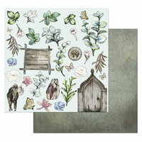49 and Market - Tattered Garden Collection - 12 x 12 Laser Cut Shapes