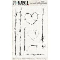49 and Market - Clear Photopolymer Stamps - Crazy Stitching Stamp Set