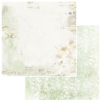 49 and Market - Vintage Artistry Sage Collection - 12 x 12 Double Sided Paper - Delicate