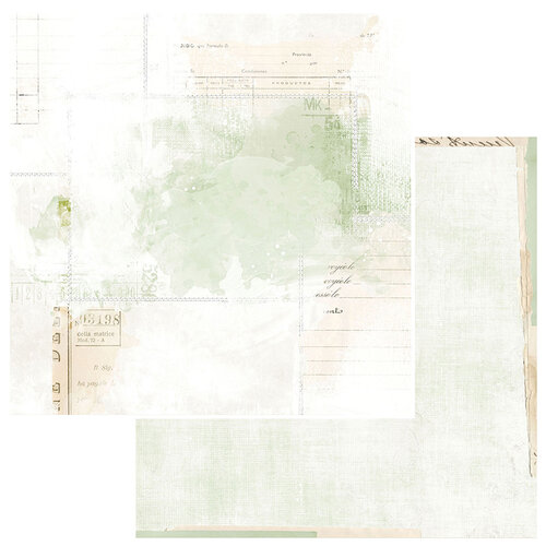 49 and Market - Vintage Artistry Sage Collection - 12 x 12 Double Sided Paper - Echoes