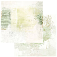 49 and Market - Vintage Artistry Sage Collection - 12 x 12 Double Sided Paper - Perennial