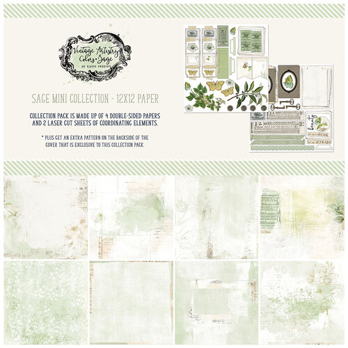49 and Market - Vintage Artistry Sage Collection - 12 x 12 Collection Pack
