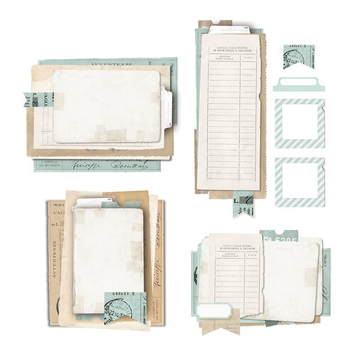 49 and Market - Vintage Artistry Sky Collection - Collage Stack