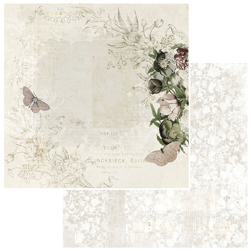 49 and Market - Vintage Artistry Natural Collection - 12 x 12 Double Sided Paper - Wallflower