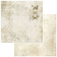 49 and Market - Vintage Artistry Natural Collection - 12 x 12 Double Sided Paper - Painted Ladies