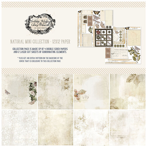 49 and Market - Vintage Artistry Natural Collection - 12 x 12 Collection Pack