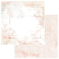 49 and Market - Vintage Artistry Coral Collection - 12 x 12 Double Sided Paper - Fleur