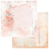49 and Market - Vintage Artistry Coral Collection - 12 x 12 Double Sided Paper - Je T'Aime