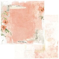 49 and Market - Vintage Artistry Coral Collection - 12 x 12 Double Sided Paper - Love Letters