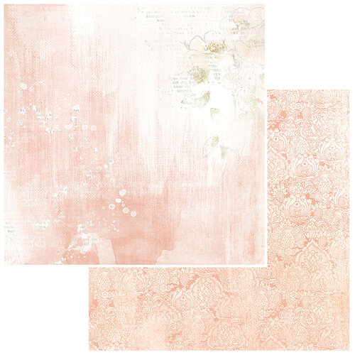 49 and Market - Vintage Artistry Coral Collection - 12 x 12 Double Sided Paper - Modern Romance