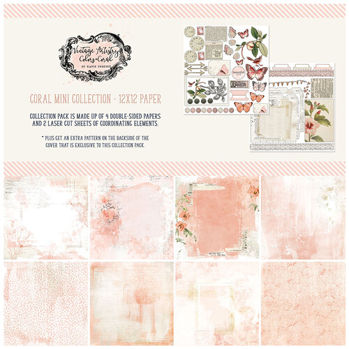 49 and Market - Vintage Artistry Coral Collection - 12 x 12 Collection Pack
