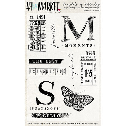49 and Market - Clear Photopolymer Stamps - Snapshots of Yesterday Stamp Set
