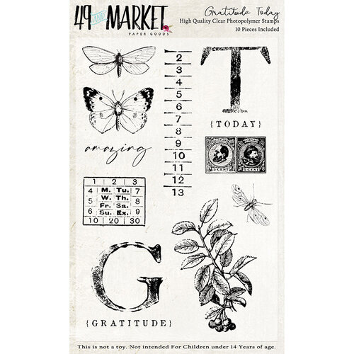 49 and Market - Clear Photopolymer Stamps - Gratitude Today Stamp Set