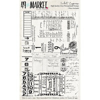 49 and Market - Clear Photopolymer Stamps - Ticket Express Stamp