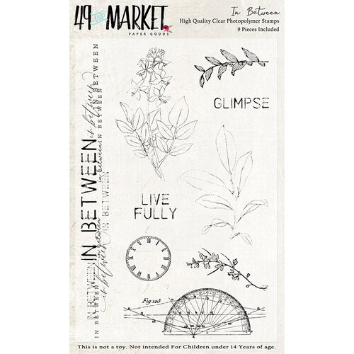 49 and Market - Clear Photopolymer Stamps - In Between Stamp