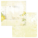 49 and Market - Vintage Artistry Butter Collection - 12 x 12 Double Sided Paper - Serenity