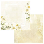 49 and Market - Vintage Artistry Butter Collection - 12 x 12 Double Sided Paper - Sachet