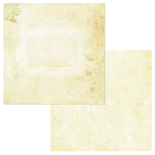 49 and Market - Vintage Artistry Butter Collection - 12 x 12 Double Sided Paper - Garden Notes