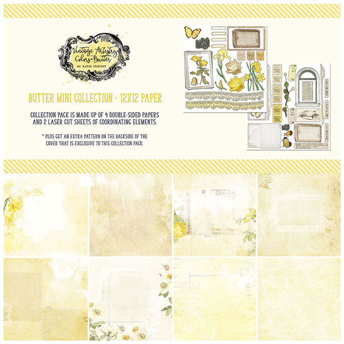 49 and Market - Vintage Artistry Butter Collection - 12 x 12 Collection Pack