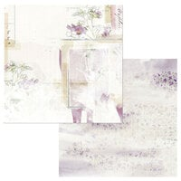 49 and Market - Vintage Artistry Lilac Collection - 12 x 12 Double Sided Paper - Ingenue