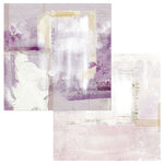 49 and Market - Vintage Artistry Lilac Collection - 12 x 12 Double Sided Paper - Gestural