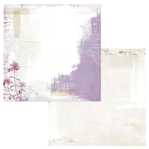 49 and Market - Vintage Artistry Lilac Collection - 12 x 12 Double Sided Paper - Mystique
